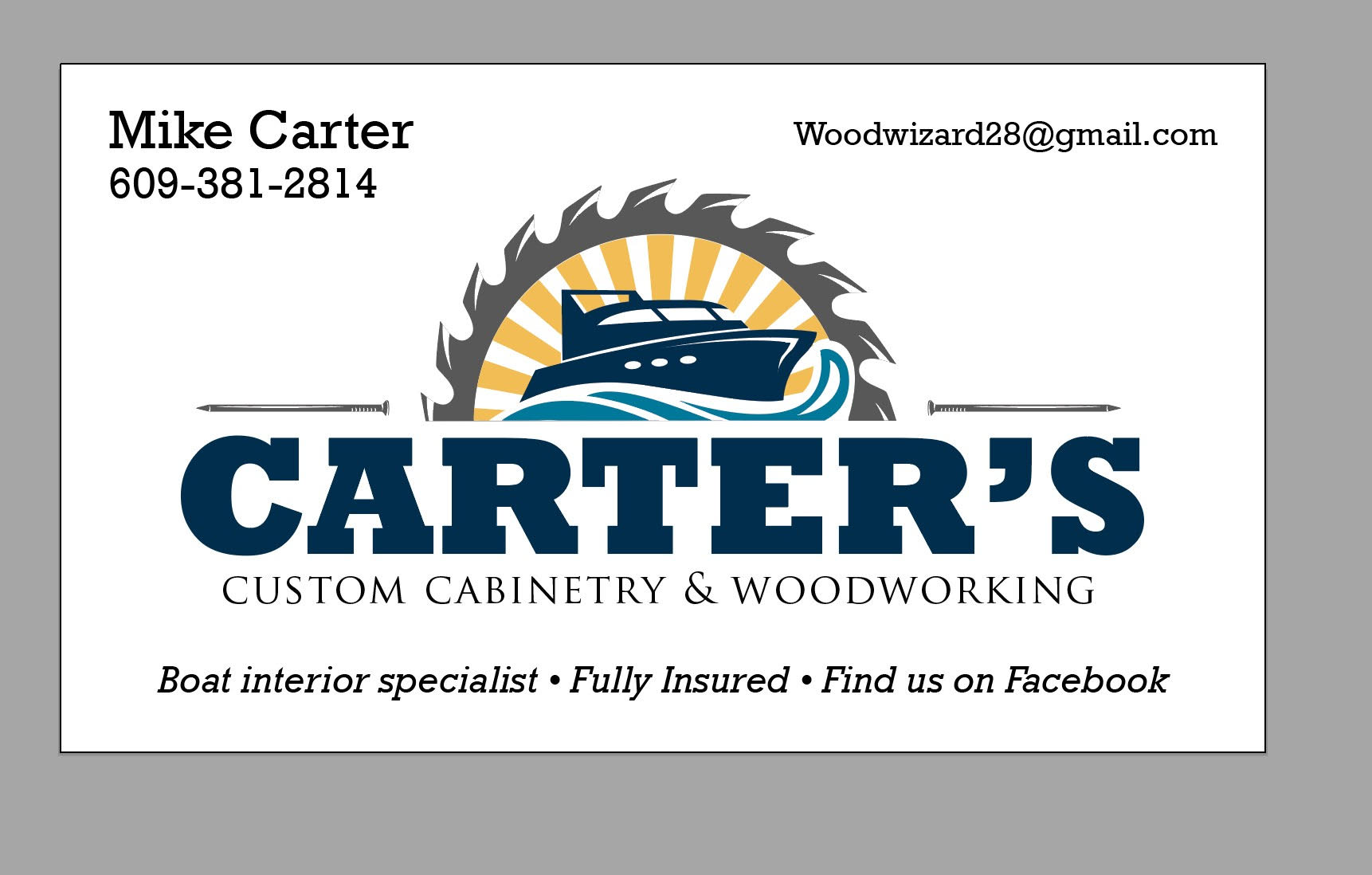 Mike Carter         Woodworking (Silverton Specialist)